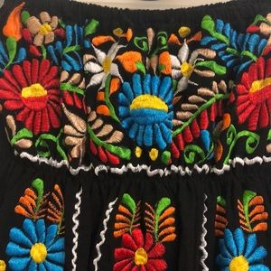 Dresses - Cute Halter Mexican Puebla Embroiled dress